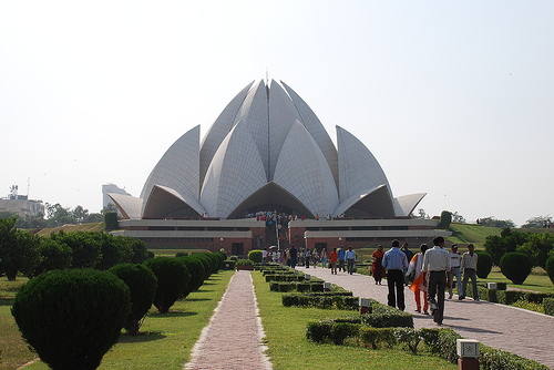 Indian Bahá'� (Lotus) Temple by 