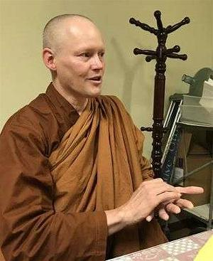 Ajahn Jotipalo Bhikkhu talks outside the City of Ten Thousand Buddhas. Photo by Jenny Espino