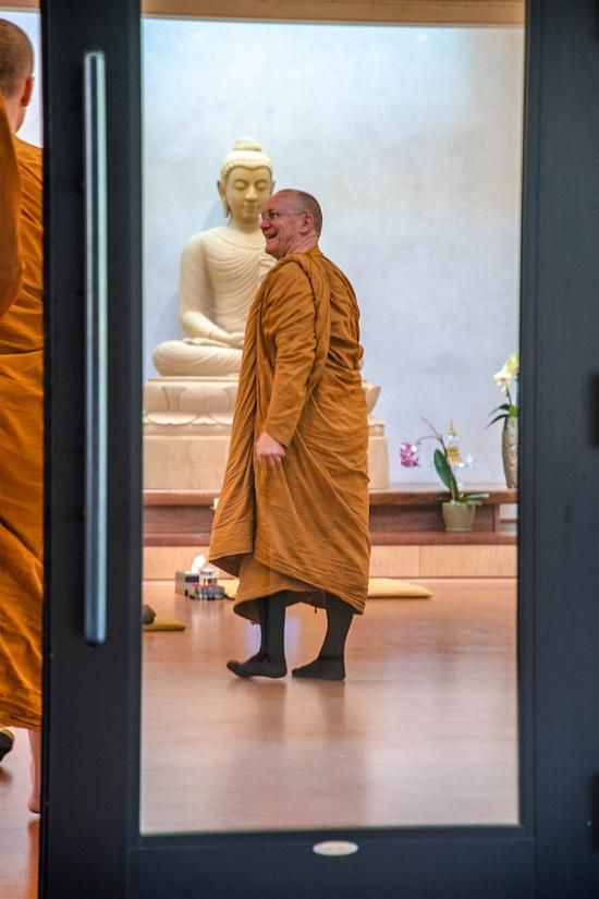 Luang por leading the way.